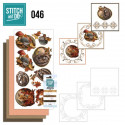 Stitch and do 46 Kit Carte 3D broderie - Animaux en automne