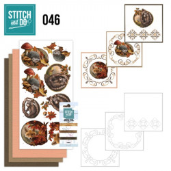 Stitch and do 46 - Kit Carte 3D broderie - Animaux en automne