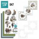 Stitch and do 47 - Kit Carte 3D broderie - Enfants en hiver