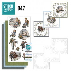 Stitch and do 47 - Kit Carte 3D broderie - Enfants en hiver