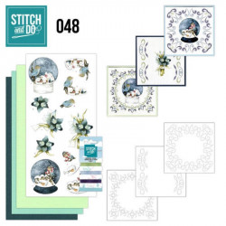 Stitch and do 48 - Kit Carte 3D broderie - Boules à neige