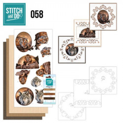 Stitch and do 58 - kit Carte 3D broderie - Animaux sauvages