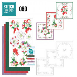 Stitch and do 60 - kit Carte 3D broderie - Fleurs de Noël