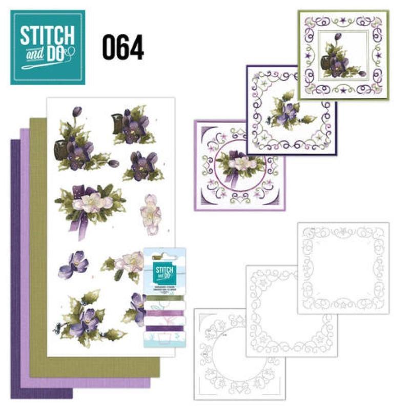Stitch and do 64 - kit Carte 3D broderie - Nature à Noël