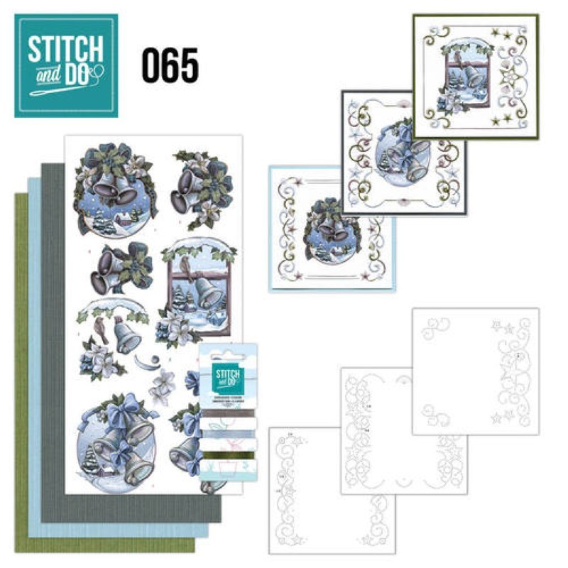 Stitch and do 65 - kit Carte 3D broderie - Feeling of christmas
