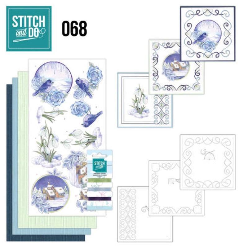 Stitch and do 68 - kit Carte 3D broderie - Scènes d'hiver