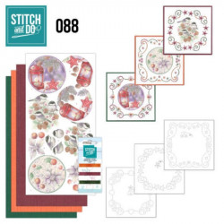 Stitch and do 88 - kit Carte 3D broderie - Oiseaux et déco Noël