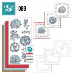 Stitch and do 89 - kit Carte 3D broderie - Rêves de Noël
