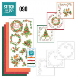 Stitch and do 90 - kit Carte 3D broderie - Joyeux Noël