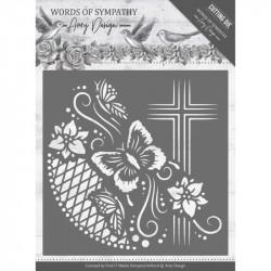 Die - Amy Design - Words of Sympathy - Cadre avec croix 13x13 cm