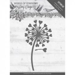 Die - Amy Design - Words of Sympathy - Fleurs et coeurs 4.5x8.3 cm