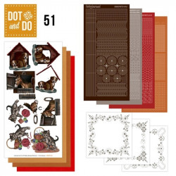 Dot and Do 051 - Kit Carterie 3D - Chiens et chats
