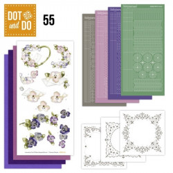 Dot and Do 055 - Kit Carterie 3D - Lettres et roses