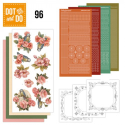 Dot and Do 096 - Kit Carterie 3D - Fleurs rose orange