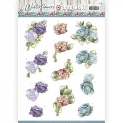 Carte 3D prédéc. - Precious Marieke - Winter Flowers - Roses
