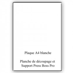 Plaque Blanche A4 universelle