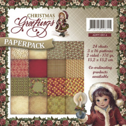 Bloc de papier - Amy Design -  Christmas Greetings 15.2 x 15.2