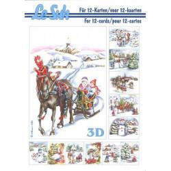 Carterie 3D LIVRE A5 - 12 cartes - Paysages Noël