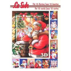 Carterie 3D LIVRE A5 - 12 cartes - Père Noël