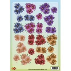 Carte 3D à découper -  Fleurs