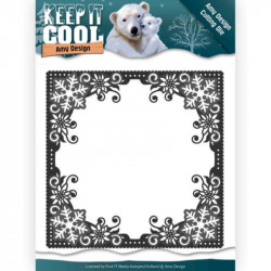 Die - Amy Design - Keep it Cool - Cadre hiver 13 x 13 cm