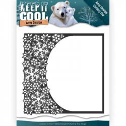 Die - Amy Design - Keep it Cool - Cadre demi cercle hiver 13 x 13 cm