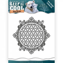Die - Amy Design - Keep it Cool - Cadre rond hiver 10,2 x 10,2 cm.