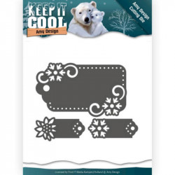 Die - Amy Design - Keep it Cool - Etiquettes flocons 6.2 x 4 cm