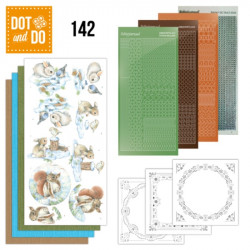 Dot and do 142 - kit Carte 3D - Lapins et Ecureuils dans la neige