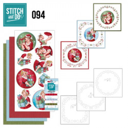 Stitch and do 94 - kit Carte 3D broderie - Bubbly girls