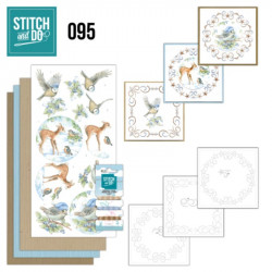 Stitch and do 95 - kit Carte 3D broderie - Animaux dans la neige