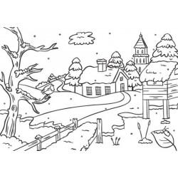 Classeur d'embossage Village enneigé 10,6x15 cm