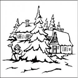 Classeur d'embossage village Noël 13x13 cm