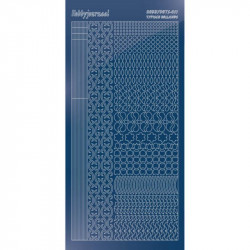 Stickers Hobbydots série 11 Miroir Bleu
