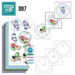 Stitch and do 97 - kit Carte 3D broderie - Doux Hiver