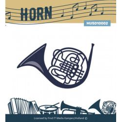 Die - Musique Cadre - Cor 6.5 x 4.5 cm