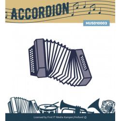 Die - Musique Cadre - Accordéon 5.5 x 5.7 cm
