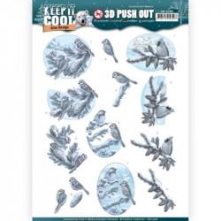 Carte 3D prédéc. - Amy Design - Keep It Cool - OIseaux dans la neige