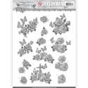 Carte 3D prédéc. - Amy Design - Words of Sympathy - Roses Blanches