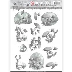 Carte 3D prédéc. - Amy Design - Words of Sympathy - Champignons blancs