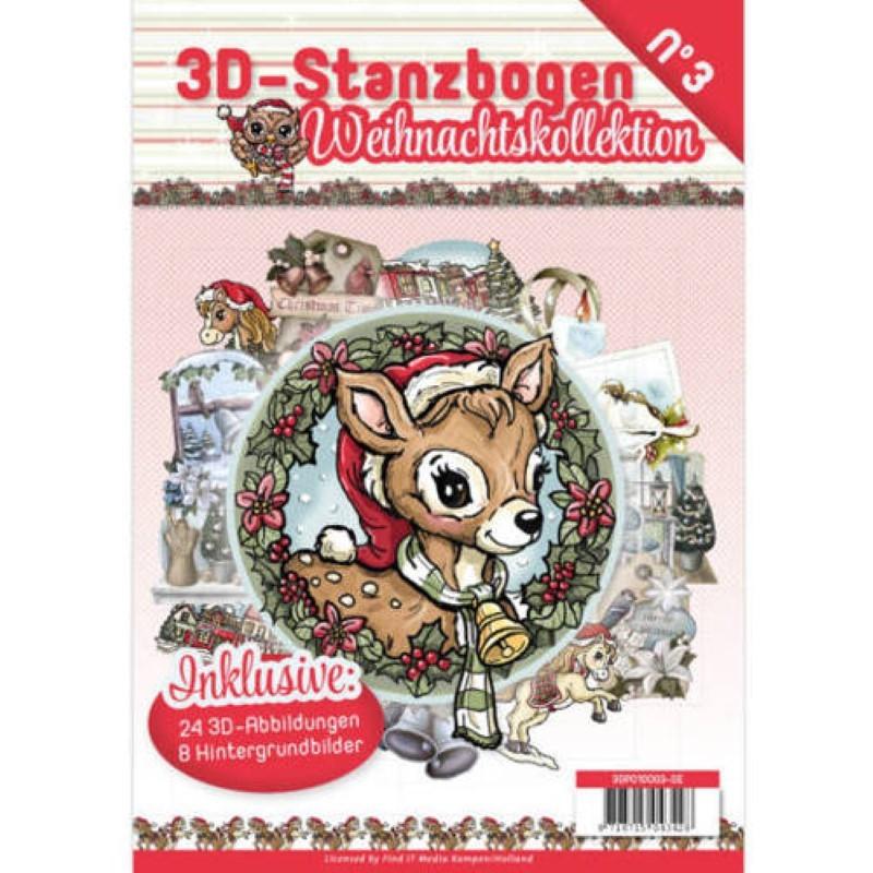 Carte 3D livre A4 prédécoupé - Noël 24 images + papiers
