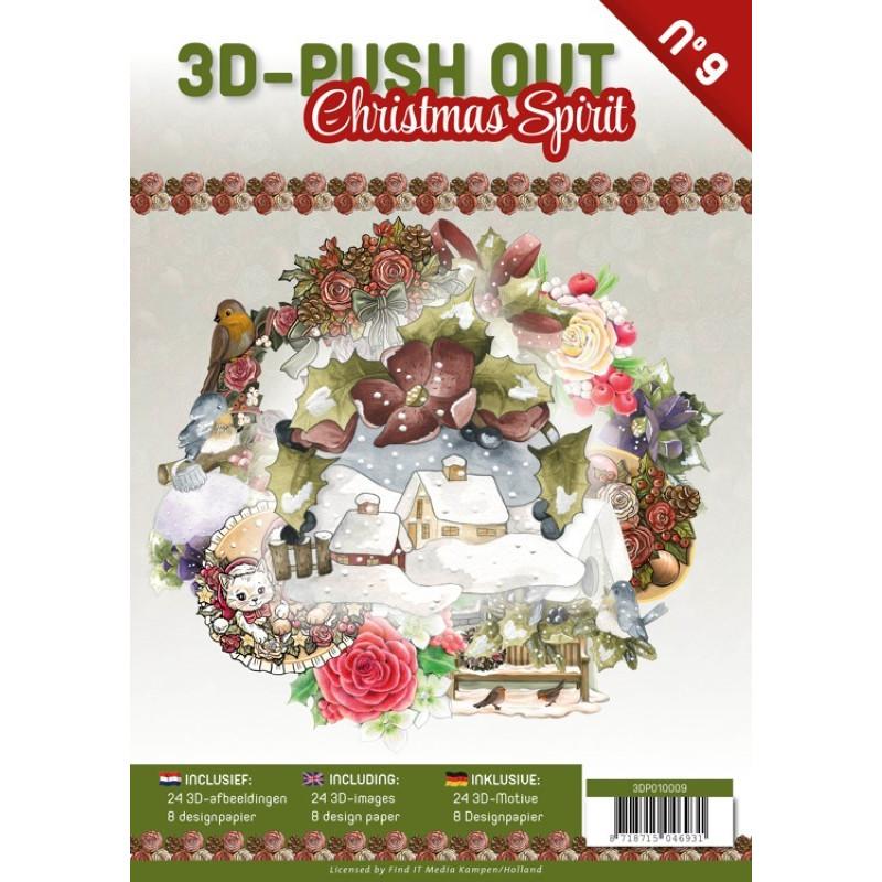 Carte 3D livre A4 prédécoupé - Esprit de Noël 24 images + papiers