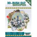 Carte 3D livre A4 prédécoupé - Temps de Noël 24 images + papiers