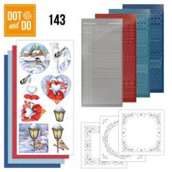 Dot and do 143 - kit Carte 3D - Oiseaux et hiver