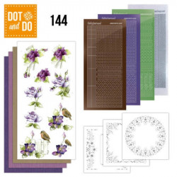 Dot and do 144 - kit Carte 3D - Roses mauves