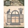 Die - jeaninnes art - Chat à la fenêtre 11.6 x 10 cm