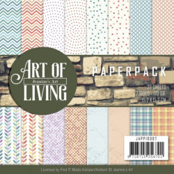 Bloc de papier - jeanine art - Art of living 15.2 x 15.2