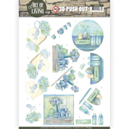 Carte 3D prédéc. - SB10309 - Art of Living - Déco Bleue