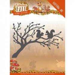 Dies - Yvonne Creations - Fabulous Fall - Ecureuils sur arbre