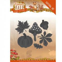Dies - Yvonne Creations - Fabulous Fall - Citrouille, champignons et feuilles